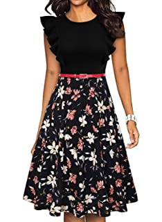 Amazon.com: IHOT Vestido de cóctel para mujer de los años 50 ...