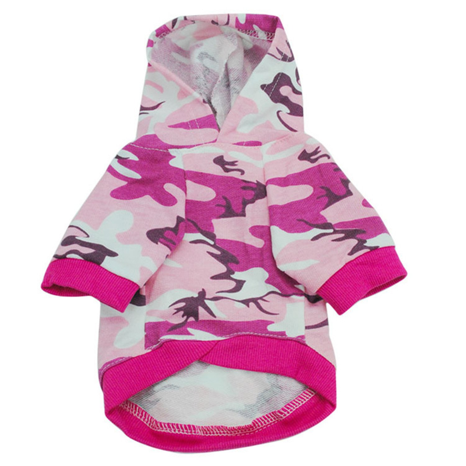 Amazon.com : HuoGuo Pet Dog Clothes For Small Dogs Camouflage Hooded Sweatshirt Dog Coat Jacket Costume For Puppy Chihuahua Hoodie Clothing Apparel Green L ...
