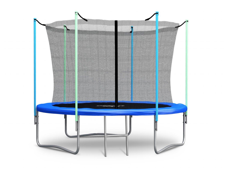 Trampolin 183 cm 6 ft mit Sicherheitsnetz Innennetz und Einstiegsleiter Neo-Sport PRO Gartentrampolin