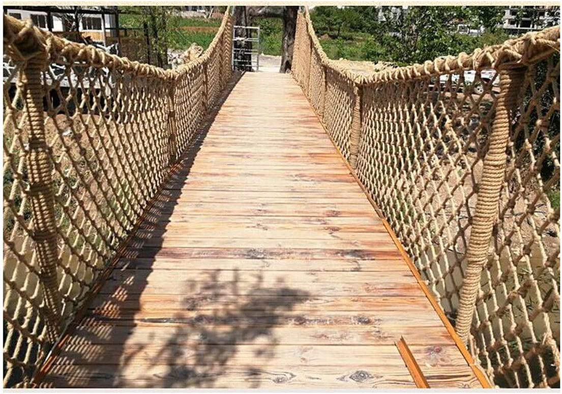 33ft Child Safety Net Balcony Stairs Garden Protection Net Ceiling Hanging Bridge Decorative Hemp Rope 1x5m Children Outdoor Climbing Net Size : 11m NIUFHW Waterproof Hemp Rope Net