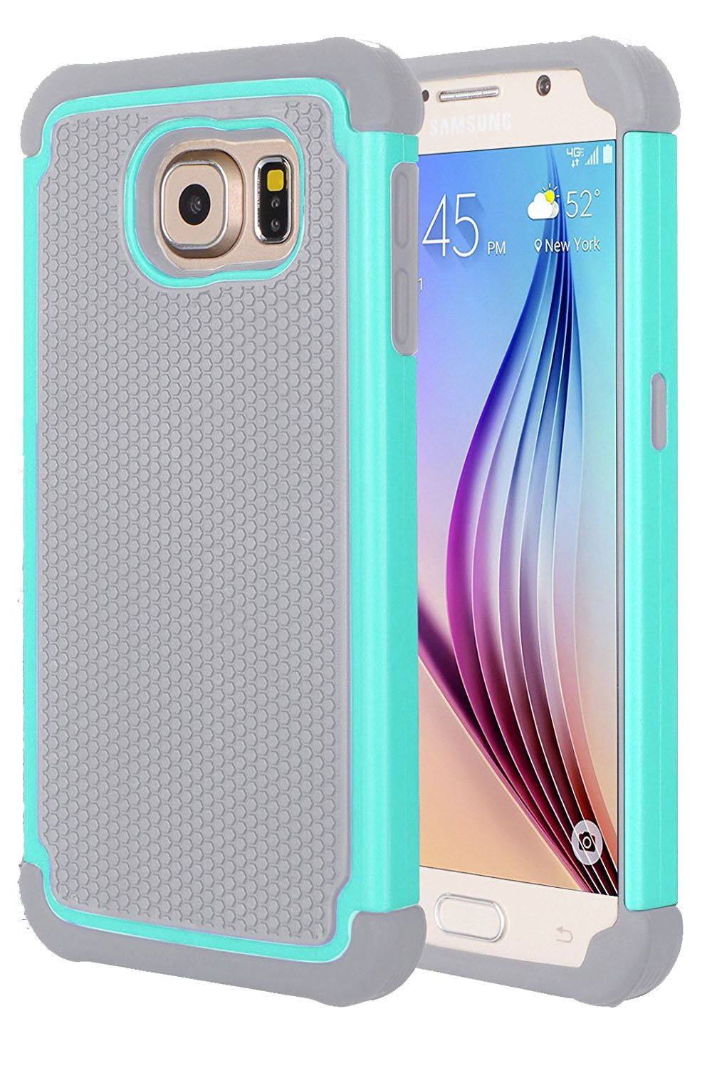 best service 60c31 f813c FDTCYDS Galaxy s6 Plus Edge case,s6 Edge + case Shockproof Silicone Hybrid  Rugged Cover Case for Samsung Galaxys s 6 Edge Plus - Blue