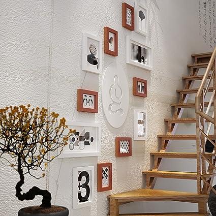 Amazon Alus 12 Multi Photo Frames Set Pine Wood Modern Wall