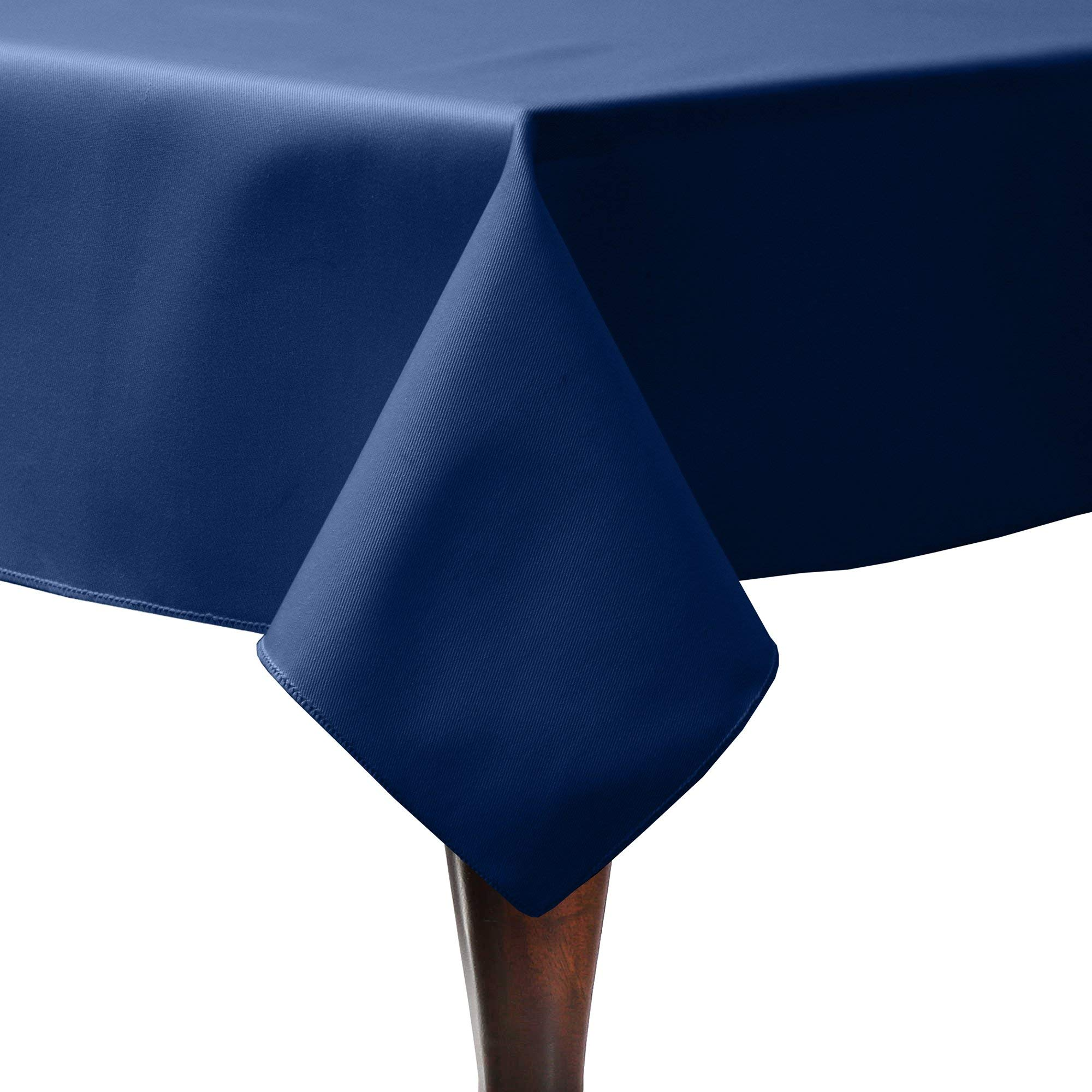 Ultimate Textile -19 Pack- Poly-Cotton Twill 72 x 108-Inch Rectangular Tablecloth, Navy Blue