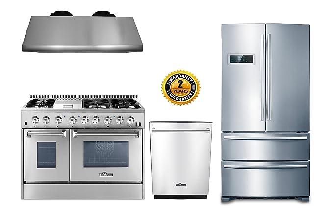 Amazon.com: Thor Kitchen - Juego de 4 piezas con quemador de ...