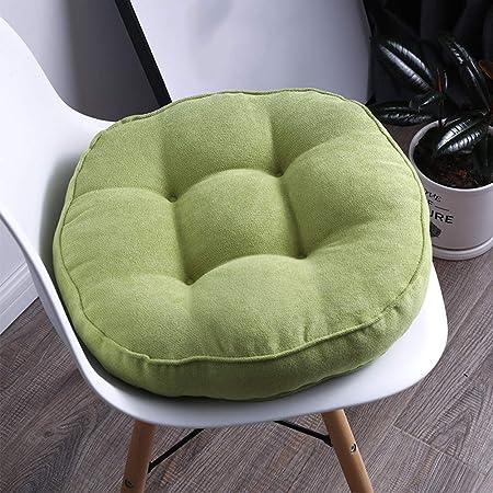 Coussin De Chaise Rond De 10 Cm D Epaisseur Pour Chaise Et Banquette 50x50cm 20x20 Vert Amazon Fr Cuisine Maison