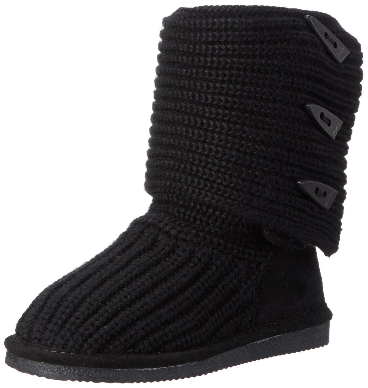 BEARPAW Women's Knit Tall Winter Boot B001O02D0K 8 B(M) US|Black