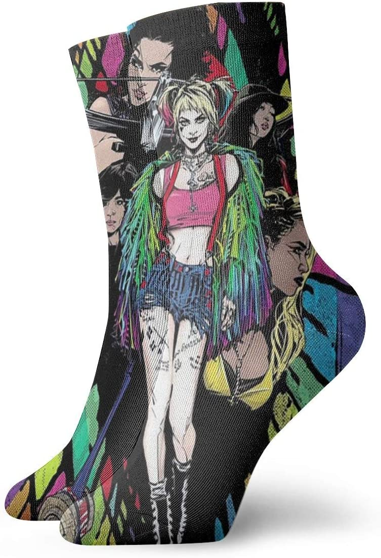 Amazon Com N C Birds Of Prey I Sand The Fantabulous Emancipation Of One Harley Quinn Polyester Adult Crew Socks Home Kitchen