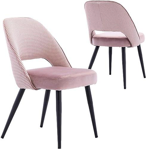 Modern Upholstered Velvet Dining Chairs Set of 2
