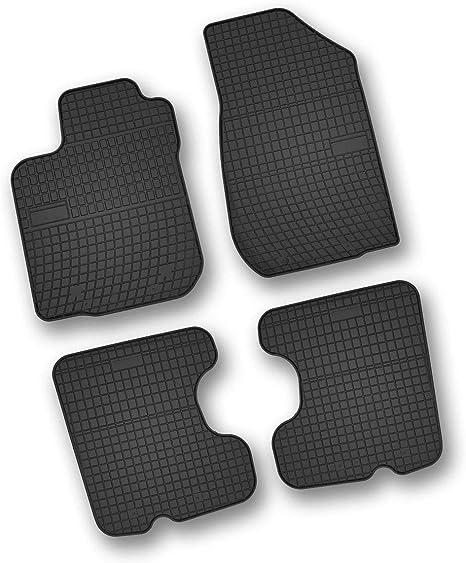 Bär Afc Da06122n Gummimatten Auto Fußmatten Schwarz Erhöhter Rand Set 4 Teilig Passgenau Für Modell Siehe Details Auto