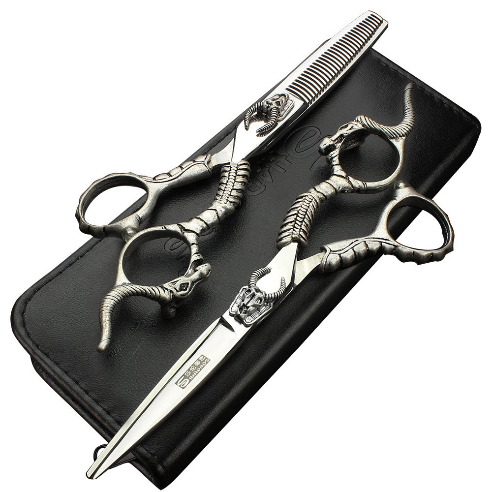 professional stainless hairdressing scissors set Free Shipping Scissors Swith Chu Scissor Suit High Quality SHAORNDS