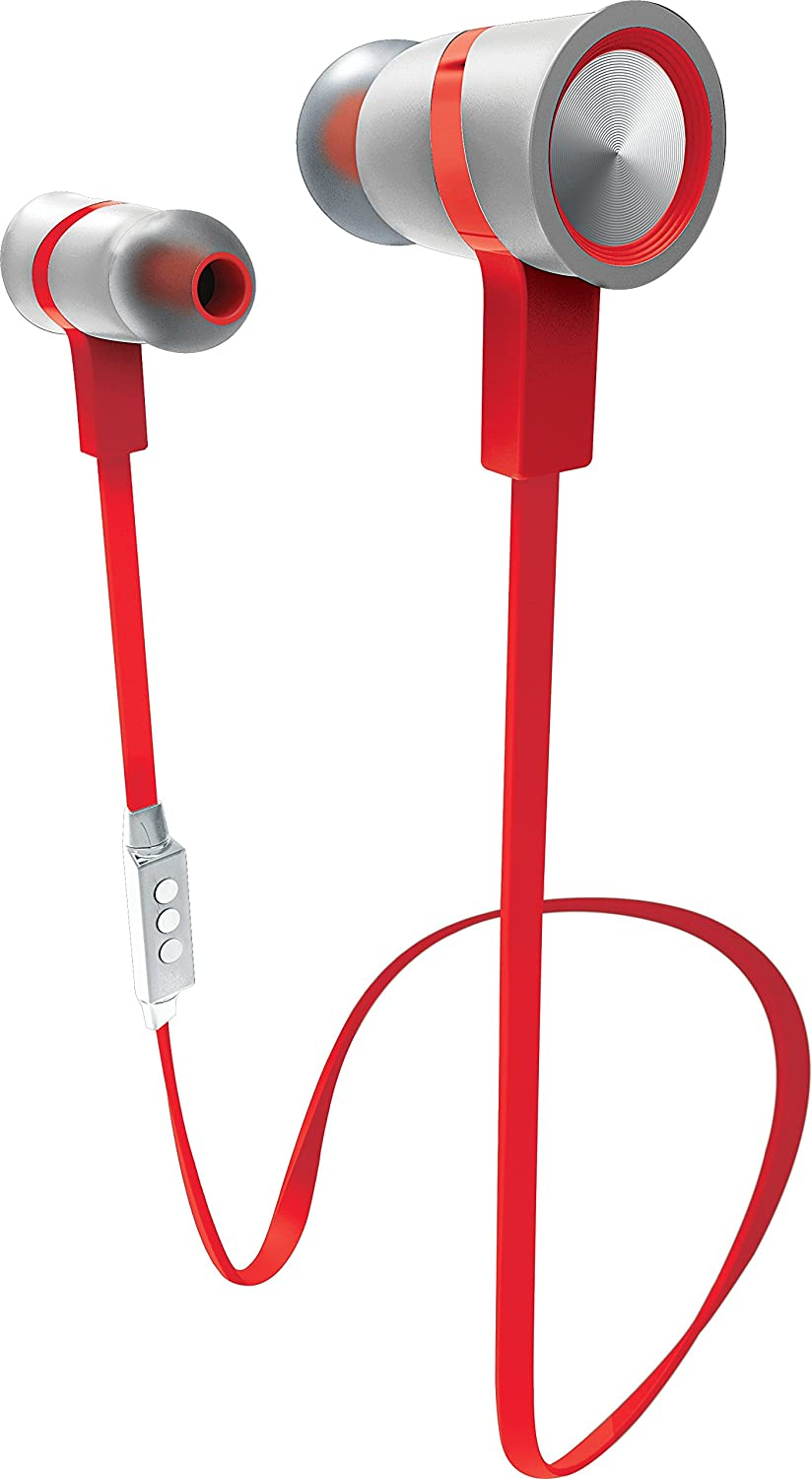 Amazon Com Sharper Image Sbt517whrd Premium Bluetooth Earbuds With Mic White Red Home Audio Theater