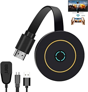 PC zu HDTV//Monitor//Projektor Tablet WiFi HDMI Dongle Streaming f/ür iPhone//iPad//Android//iOS//Window//Mac OS Laptop Wireless HDMI Dongle 4K HDR