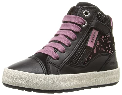 Geox JR Witty B, Zapatillas Altas para Niñas, Schwarz (Black/PURPLEC0037), 28 EU