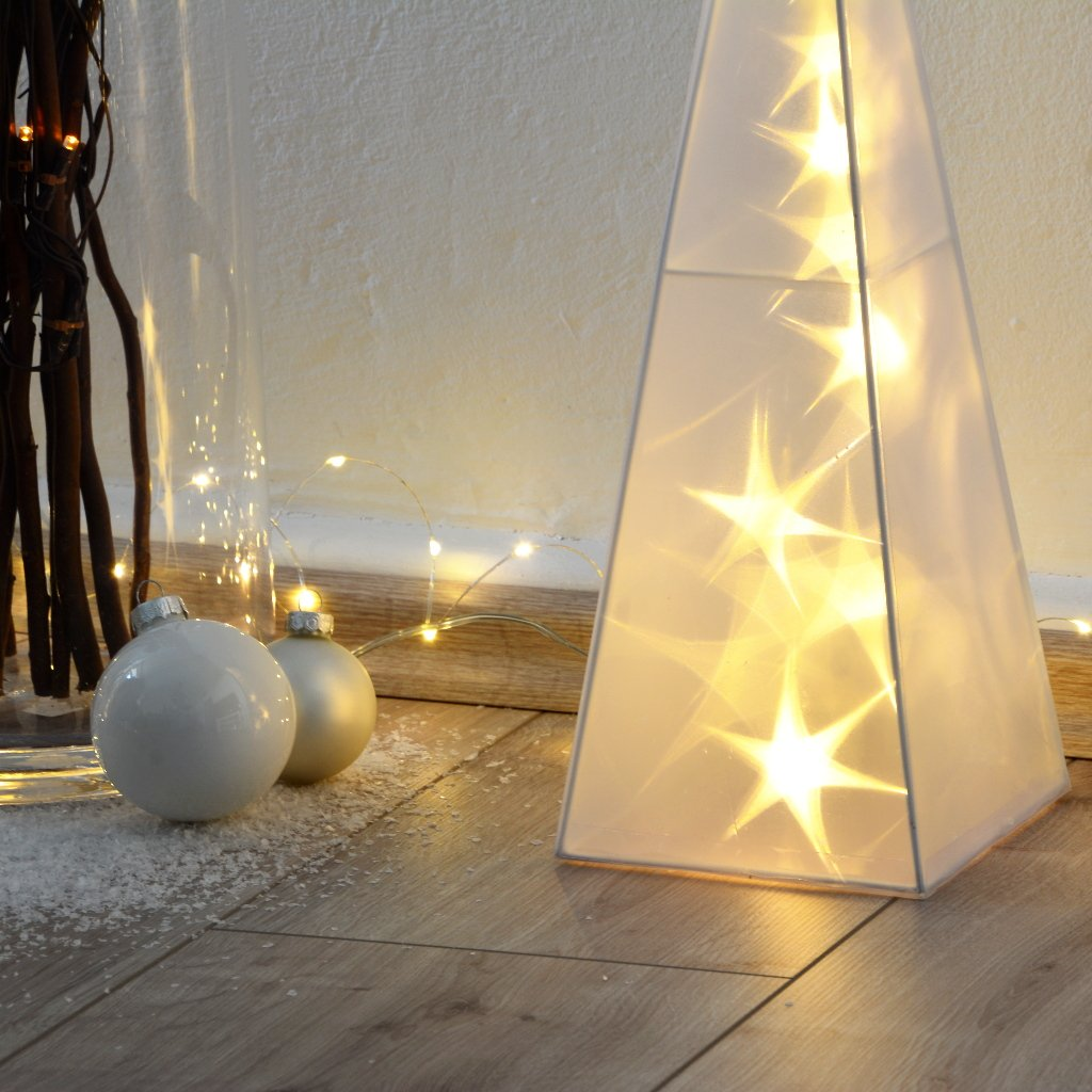 3d Weihnachtsbeleuchtung.Intrendu 3d Hologramm Weihnachtspyramiden Im Set 45 60cm