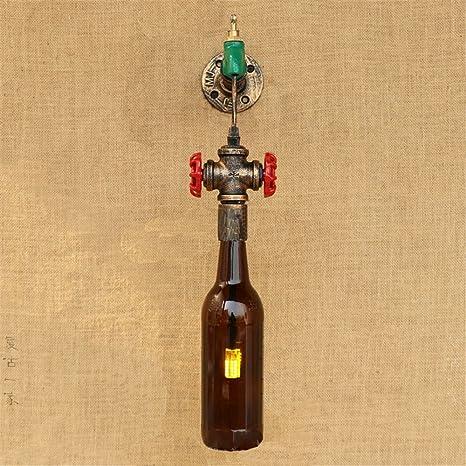 Z&MDH lámpara de pared Nordic moderno bar salón balcón creative botella decorada apliques, 440mm *