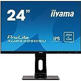 iiyama 24.1型ワイド液晶/16:10 WUXGA 1920x1200/IPS方式パネル/昇降/ピボット/スィーベル/3年保証/XUB2495WSU-B1