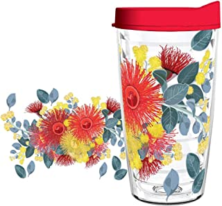 product image for Smile Drinkware USA - Eco-Friendly Drinkware - Native Australian Flowers 16oz tumbler with lid and straw