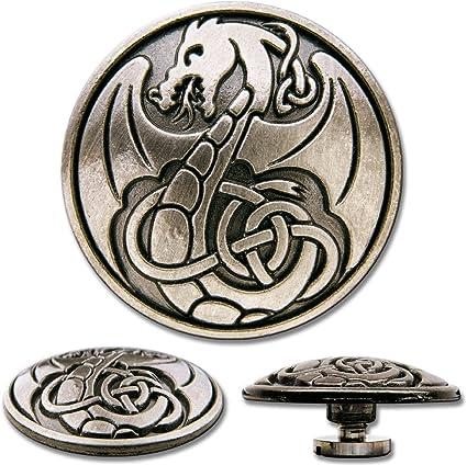 Decorative Screw Back Rivet Celtic Dragon No 1 by Hoppe /& Masztalerz Celtic Screwback Concho