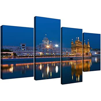 Amazon Com Large Sikh Canvas Wall Art Pictures Of The