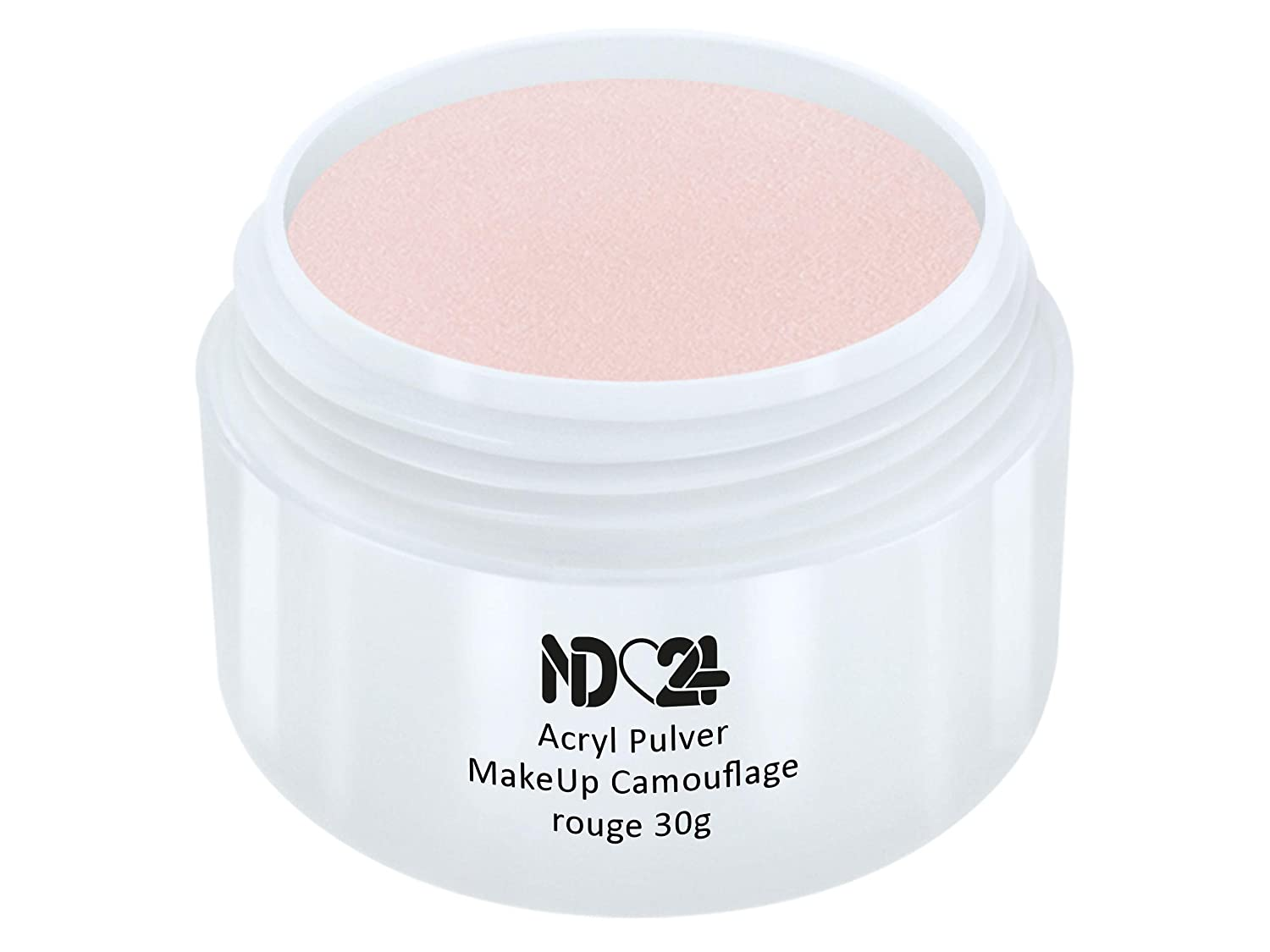 Acryl Pulver MakeUp Camouflage rouge 30g - nd24 BESTSELLER - Feinstes Acryl-Puder Acryl-Pulver Acryl-Powder - STUDIO QUALITÄT
