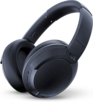Amazon Com Tcl Elit400nc Wireless On Ear Headphones Hi Res Noise Cancelling Bluetooth Headphones With 22 Hour Playtime And Fast Charge Midnight Blue Electronics