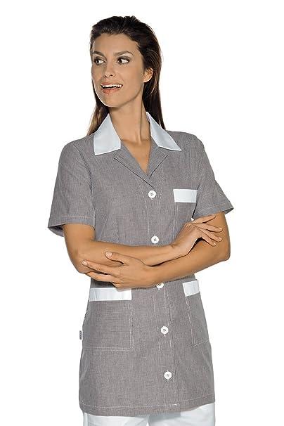 Isacco-túnica médica Marbella, diseño de Rayas, Color Negro, Color Blanco, 100% algodón: Amazon.es: Ropa y accesorios