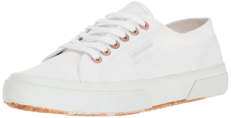 Superga Women's 2750 Cotu Sneaker B073ZGMNWS 38 M EU|White/Rose