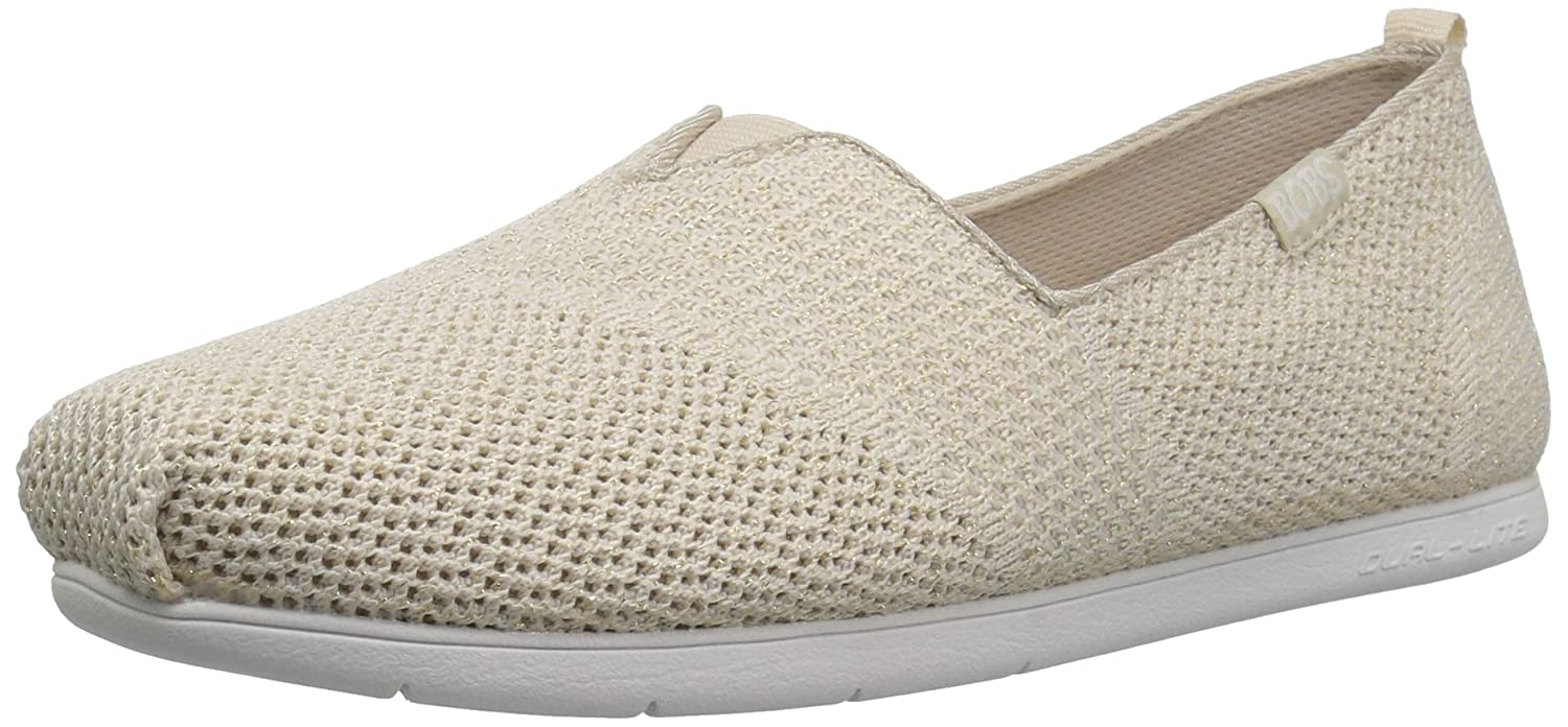 Skechers BOBS from Women's Plush Lite Flat B01MY9OHM2 10 B(M) US|Natural Sparkle