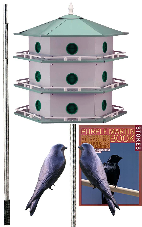 BestNest Heath 18-Room Deluxe Purple Martin House Package