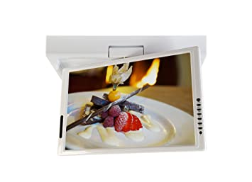 Visua 154quot Under Cabinet Flip Down Kitchen TV With DVD Glossy