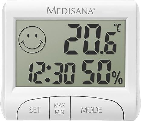 Medisana HG 100 Higrómetro digital para interiores, termómetro con ...