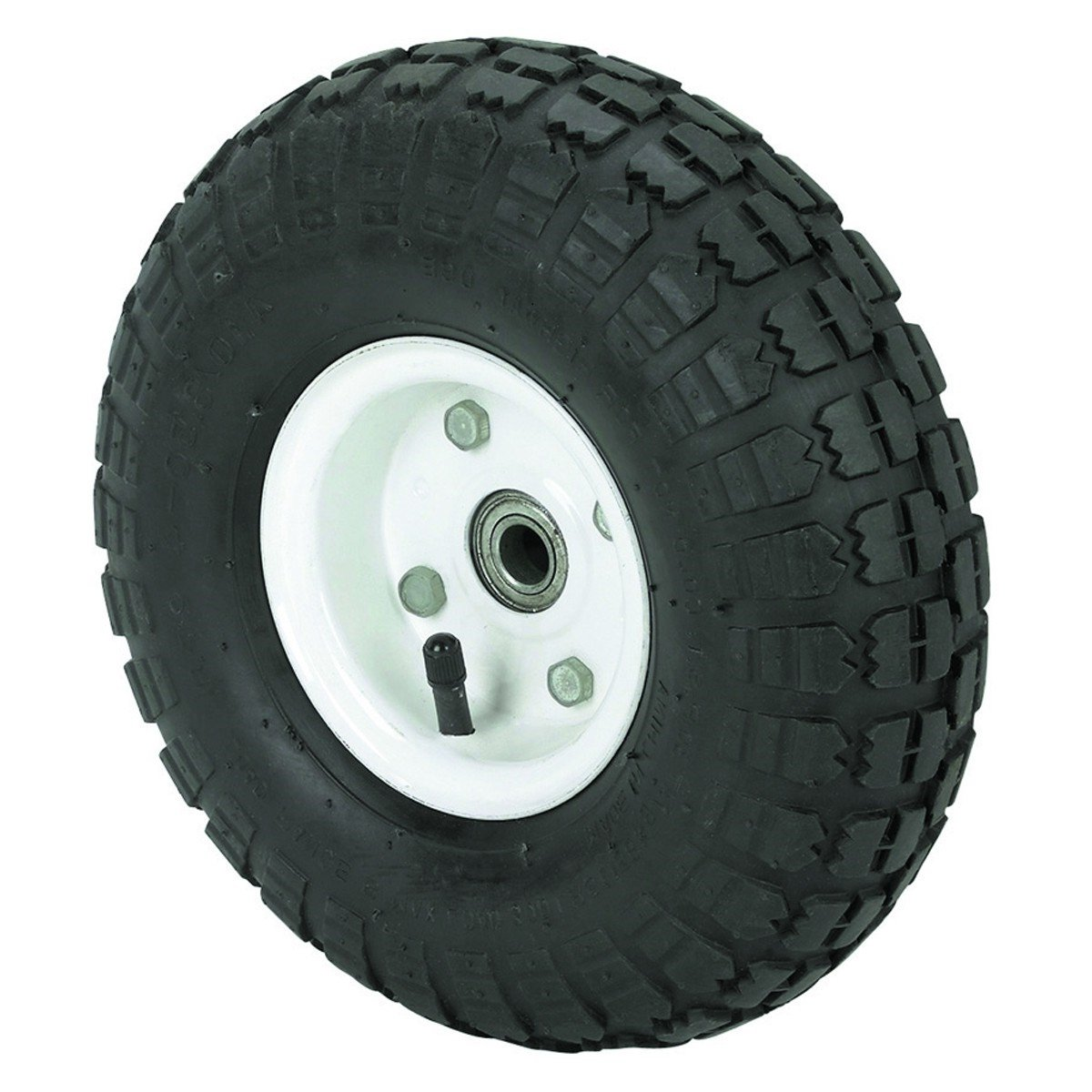 300 lbs 10 in. Pneumatic Tire Wheel with White Hub wagons, hand trucks and yard trailers, garden, shop All-Terrain Thread