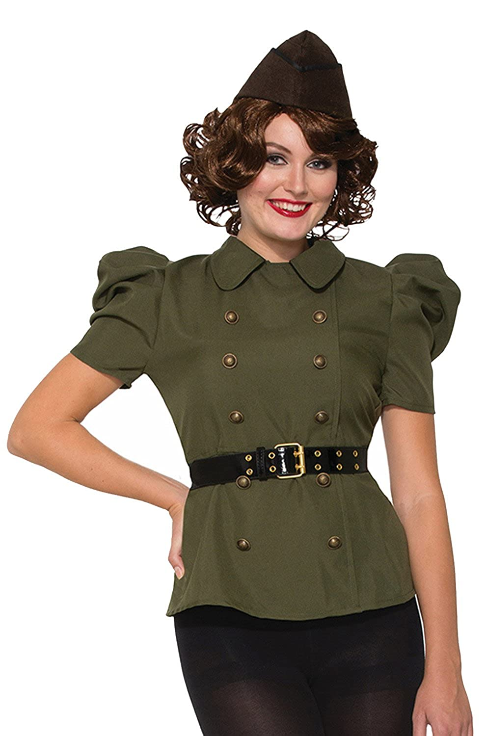 1940s Costumes- WW2, Nurse, Pinup, Rosie the Riveter Bombshells Adult Costume- $24.47 AT vintagedancer.com