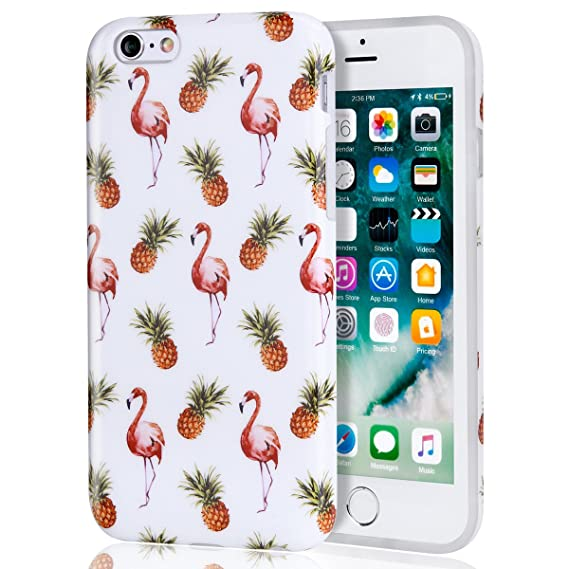 info for 4b053 a059e iPhone 6 Plus/6s Plus Case Flamingo Pineapple Red, Women Best Protective  Cute Clear Slim Shockproof Glossy Thin TPU Soft Rubber Silicone Cover Phone  ...