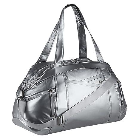860d57c140e Amazon.com   Nike Victory Gym Club Metallic Duffel Bag (Grey)   Sports  Duffels