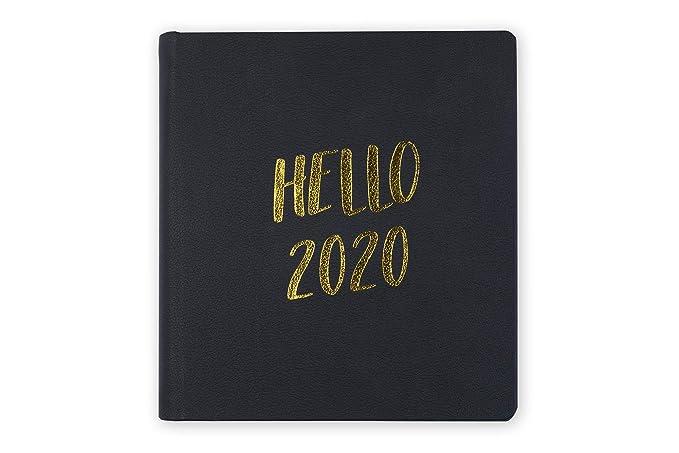 Tri-Coastal Design – Agenda de 17 meses 2020 con planificador semanal – Tapa rígida resistente – Elegante funda decorada (hello 2020)