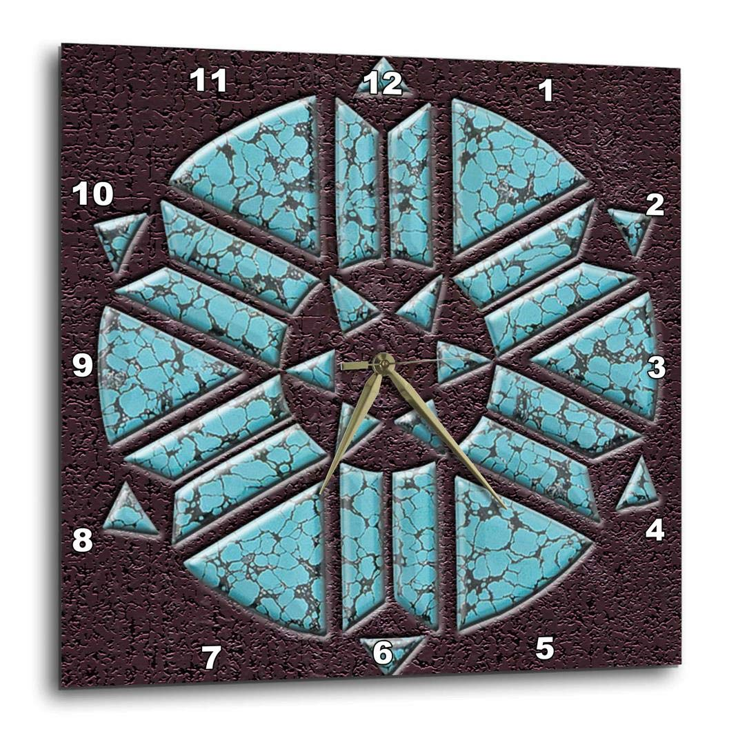 3dRose 3D Rose Designer One of A Kind Native American Art - Wall Clock, 10-inch (DPP_108089_1)
