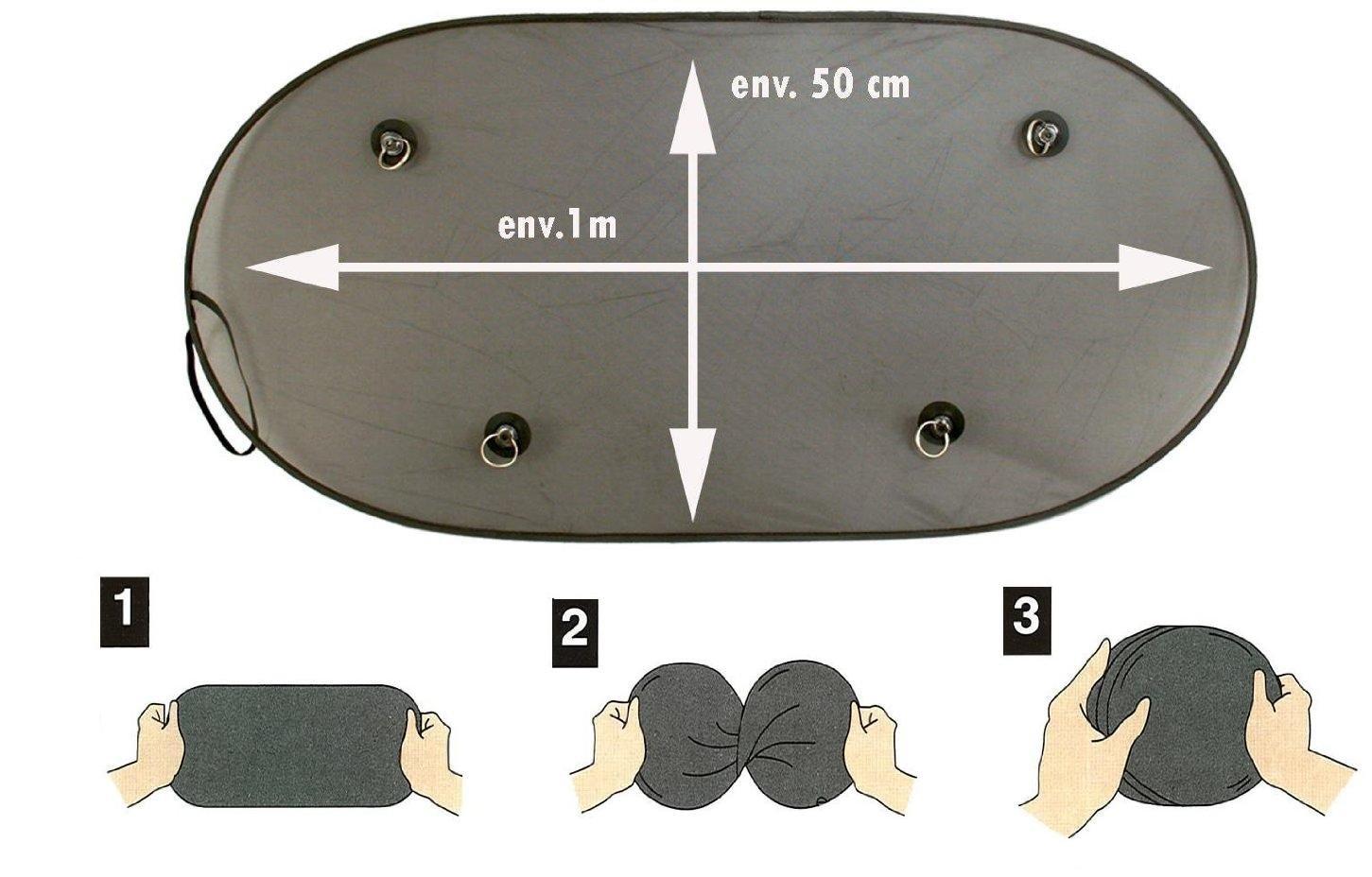 Looping - Parasol de coche para luna trasera, color negro S1581