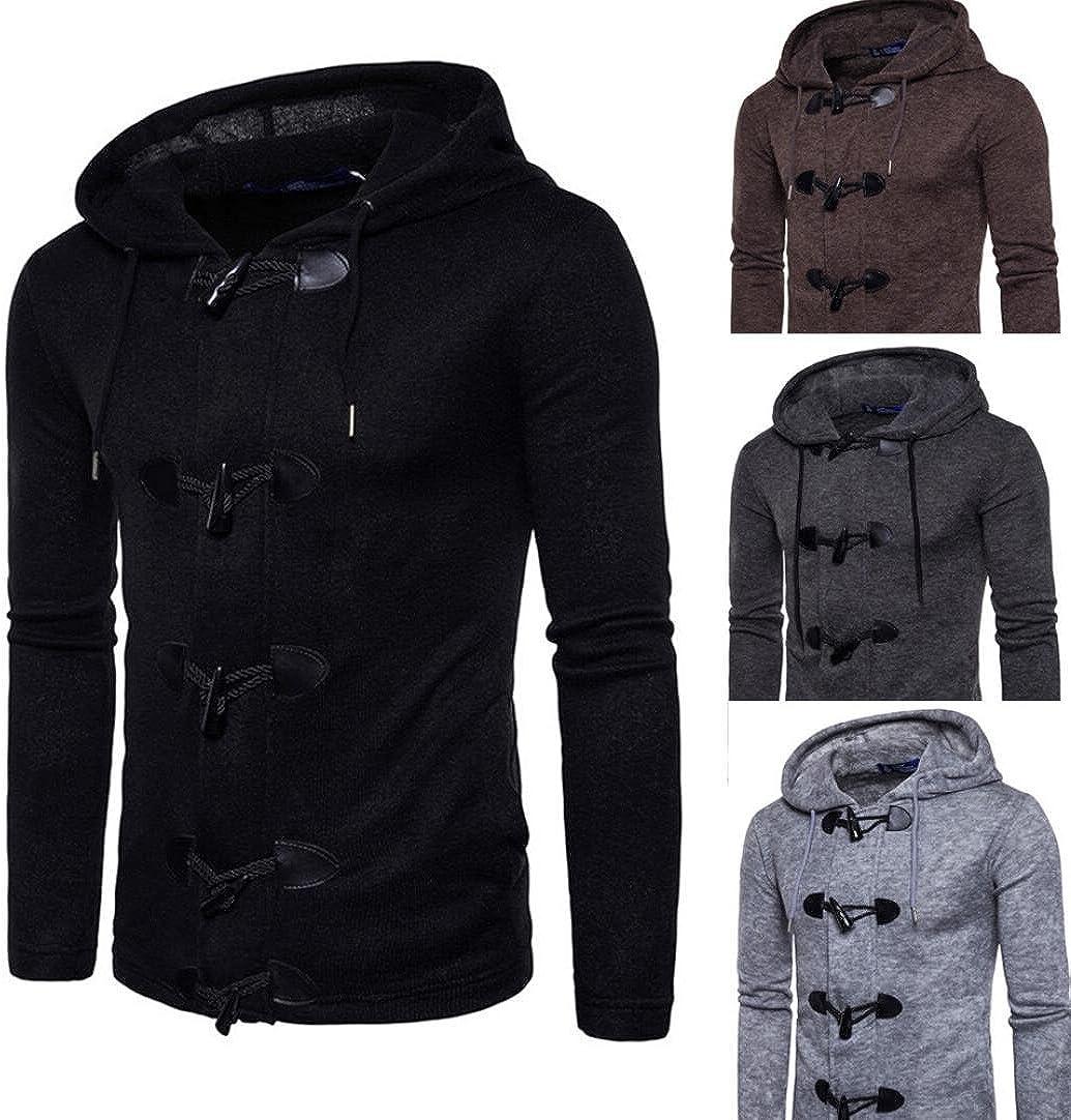New Mens Fashion Men Slim Designed Hooded Top Cardigan Coat Jacket