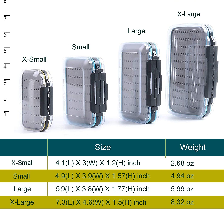 Maxcatch Large Size Waterproof Fly Fishing Box Slit//Easy-Grip Foam Double-Side
