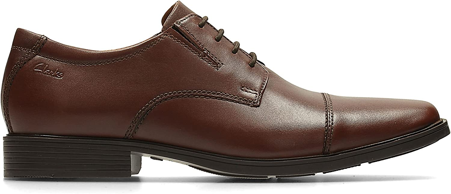 Clarks Tilden Cap, Derbies à Lacets Homme Marron Brown Leather