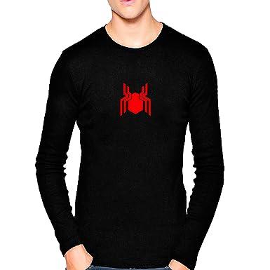 bddb9ff96 Wild Thunder Men Cotton Spider, Man, Logo Printed T Shirt Small 36 Size  Black