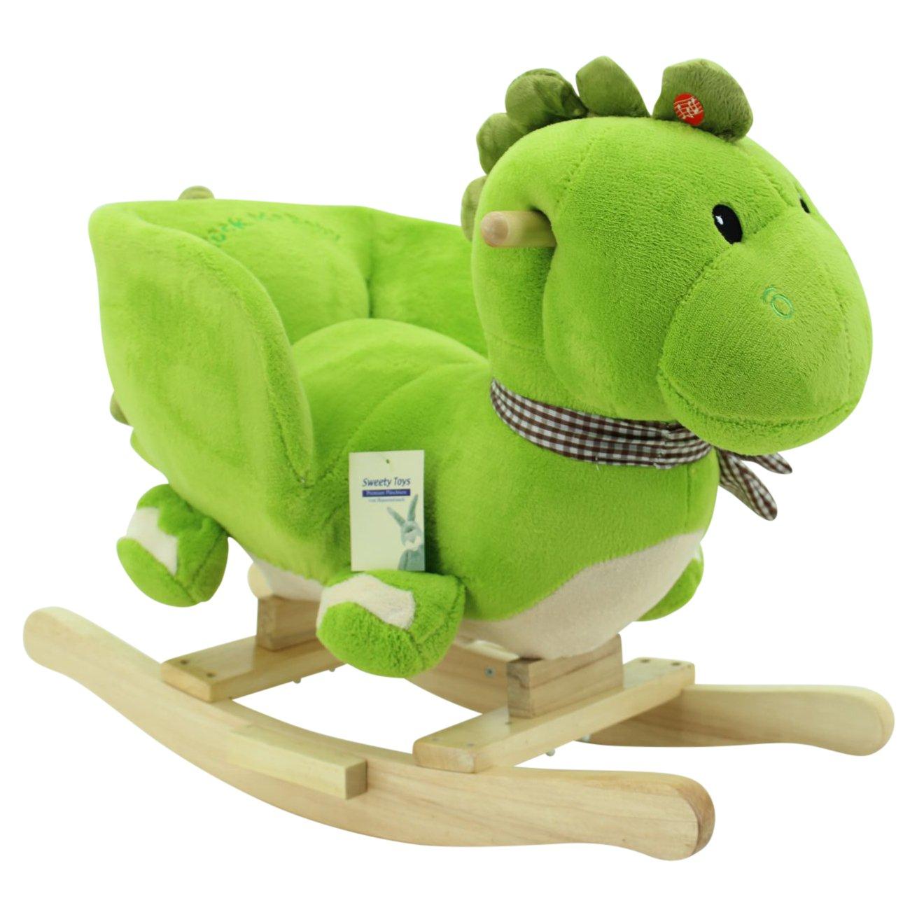 Sweety Toys 6731 GRISU Pl/üsch Schaukeltier Schaukeldrache Drache mit Funktion