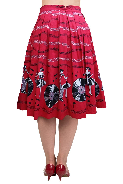 Retro Skirts: Vintage, Pencil, Circle, & Plus Sizes Banned Empower 50s Retro Skirt $44.99 AT vintagedancer.com
