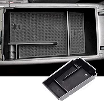 Center Console Insert ABS Black Material Armrest Organizer Tray Secondary Storage Box Compatible with 2021 Kia K5 DL3 Interior Accessories CDEFG 2021 K5 Console Organizer