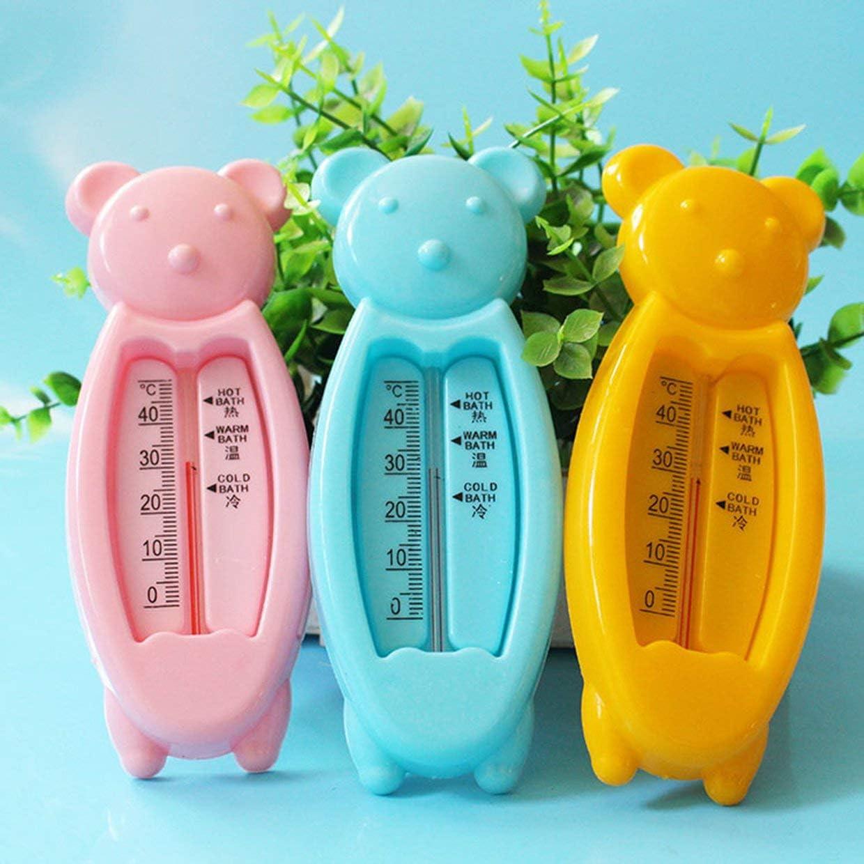 pink MXECO Baby-Wasser-Thermometer Spielzeug Smart-B/ären-Form-Baby-Bade Spielzeug F/ür Kinder Kinder Acurate Temperatur Teller Badethermometer