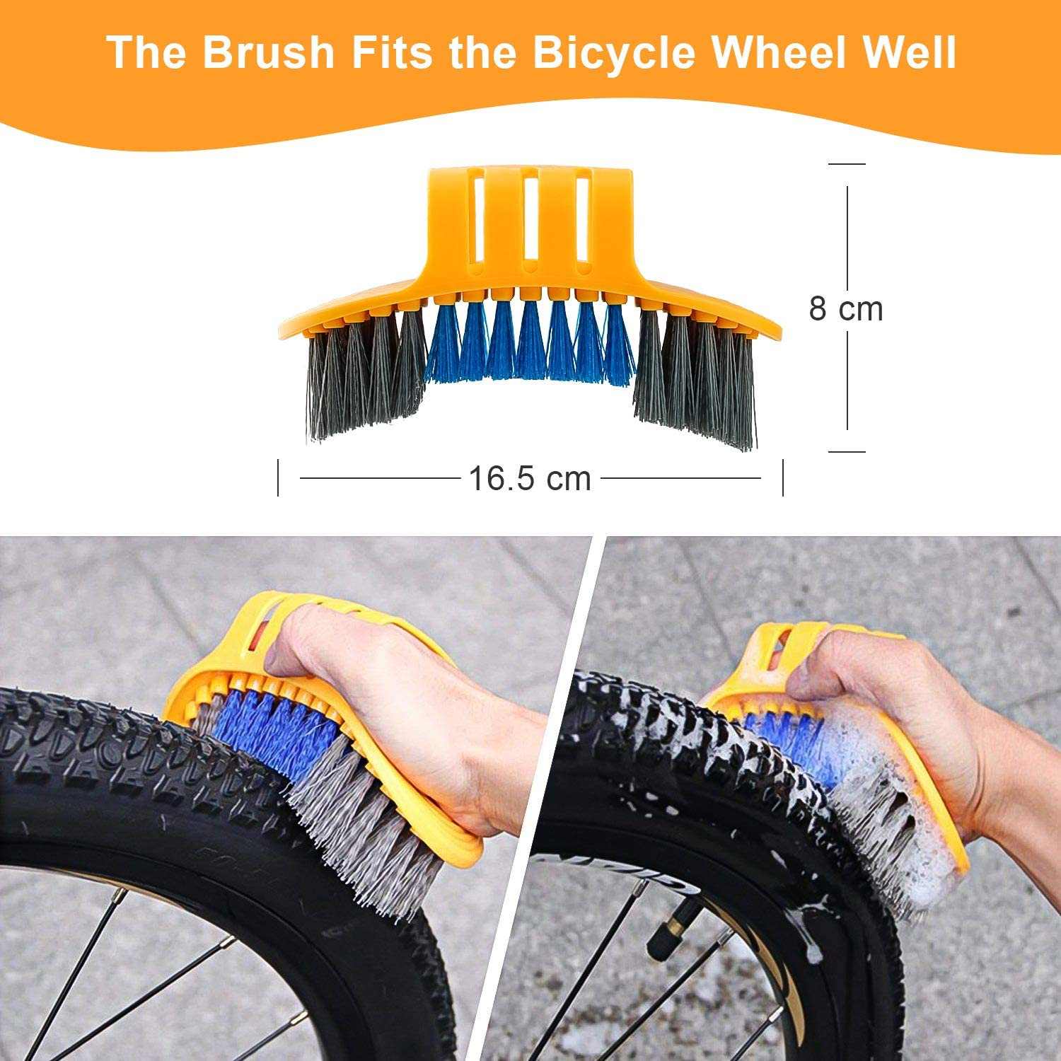 Hootracker 8 Pieces Bicycle Cleaning Brush Tool with Chain Scrubber 11 in 1 Multi-Purpose Bicycle Repair Tools