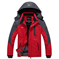 Wantdo Mens Mountain Waterproof Ski Jacket