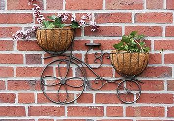 Dekoration Garten Wanddeko Wandblumenhalter Fahrrad