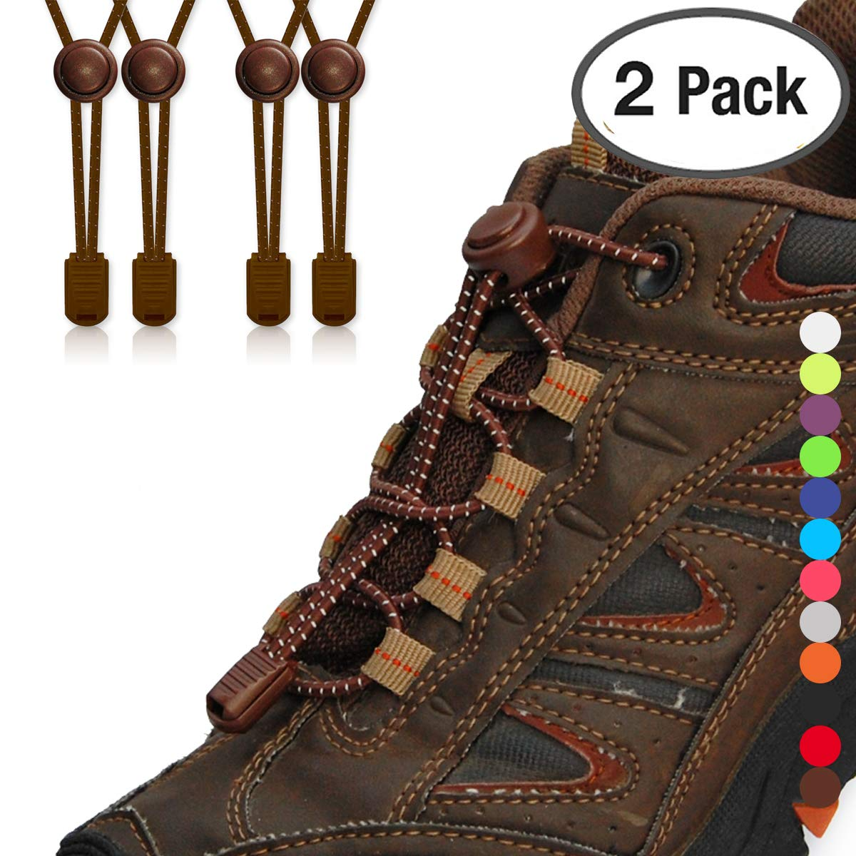 8bc83d1fe9273 Airror Elastic No Tie Shoelaces for Kids and Adults, Best Lock ...
